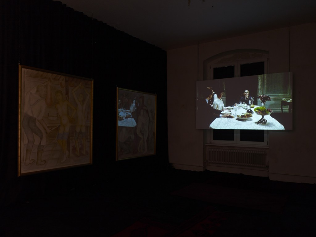 Pierre Klossowski. »The Immortal Adolescent II.« Installation view. Galerie Isabella Bortolozzi. 14.12.13—31.05.14