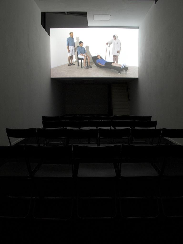 Jos de Gruyter & Harald Thys, »DIE AAP VAN BLOEMFONTEIN (the Ape from Bloemfontein)«, 2014, Single channel video projection, color, sound (Afrikaans spoken, English subtitles), 23 minutes