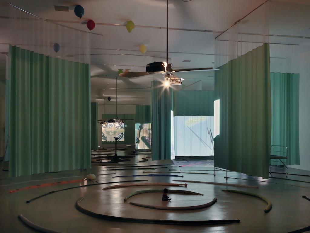 Installation view: Stephen G. Rhodes, »The Law of the Unknown Neighbor: Inferno Romanticized«, Migros Museum, Zurich, 09.02.13–21.04.13