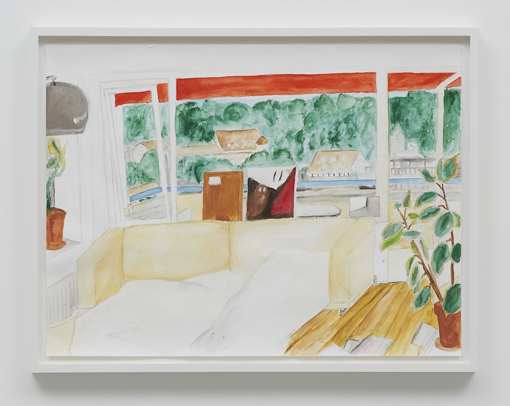 »Scott's house, Bregenz«, 2014, Gouache on paper,<br/>Framed: 40 x 52 cm
