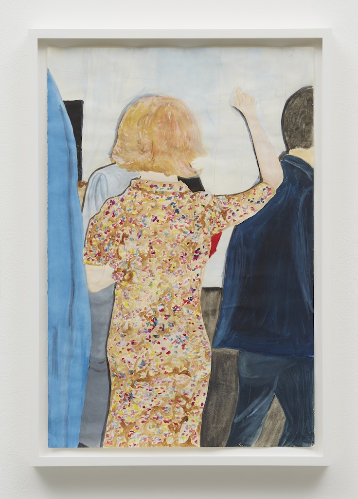 »Margot, St. Johns, London«, 2015, Gouache on paper,<br/>Framed: 45 x 32 cm