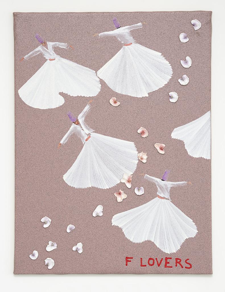 Aldo Mondino, »FLovers«, 2004, oil on linoleum and ceramic, 120 x 90 cm, unique