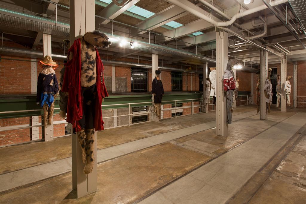 Jos de Gruyter & Harald Thys,<br>'DIE SCHMUTZIGEN PUPPEN VON POMMERN',<br>Installation view, The Power Station, Dallas, TX,<br>08.04.15 - 12.06.15