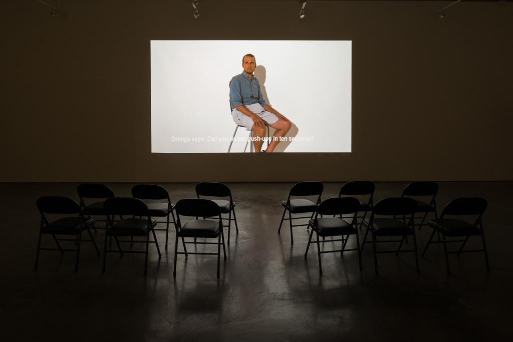 Jos de Gruyter & Harald Thys, »Die Aap van Boemfontein«,<br>2014, Single channel video projection, color, sound,<br>Duration : 23 minutes