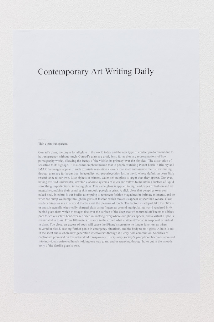 Text by Contemporary Art Writing Daily