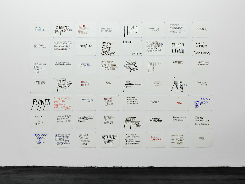 Steve Reinke, »Drawings«, 2013-2016, Ink on paper, 49 vertical, 56 horizontal, each 30.5 x 23 cm