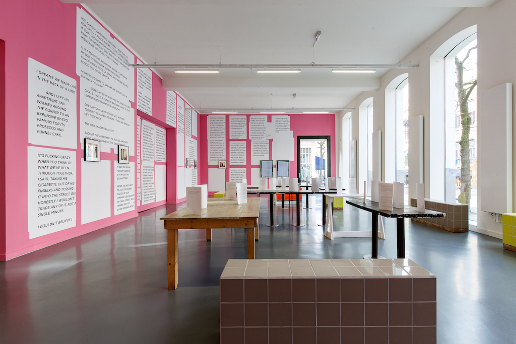 Calla Henkel & Max Pitegoff, 'Foreword', installation view: <br>Witte de With Center for Contemporary Art, Rotterdam,  <br>29.01.16—10.04.16