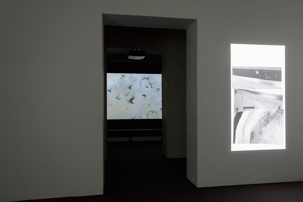 James Richards, Installation view, Radio at Night, Digital video, 8 min, 2015, ICA, London, 21.09.16—13.11.16