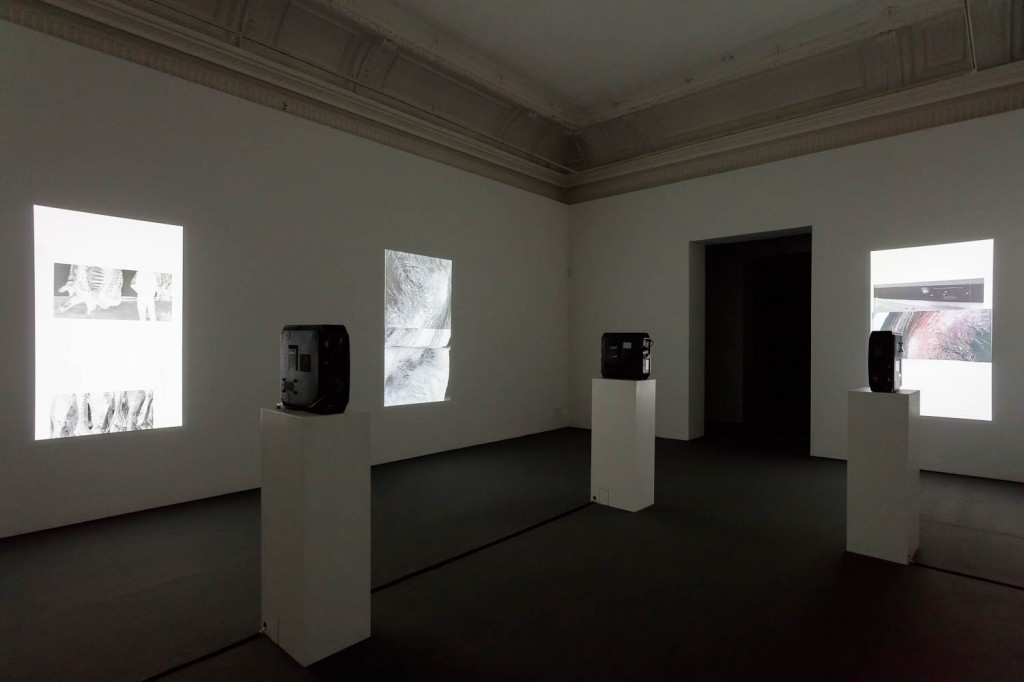 James Richards, Installation view, Rushes Minotaur, 1 installation compised of 3 projections, 2016, ICA, London, 21.09.16—13.11.16