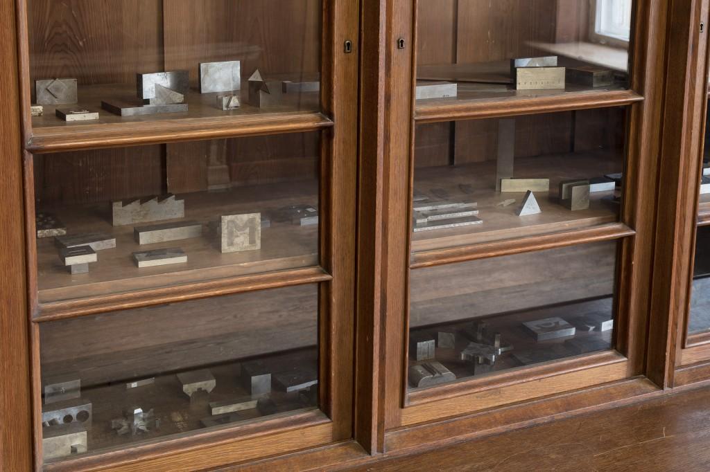 Detail view: Ibon Aranberri, Machine is a hand, 2017, steel elements, dimensions variable, Unique, Photo: Thomas Bruns