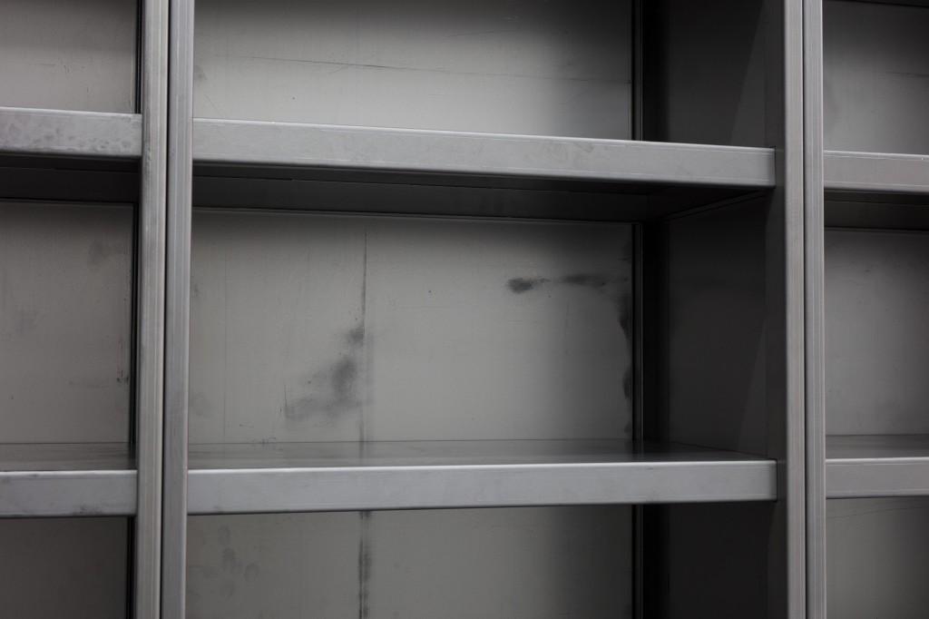 Detail view: Ibon Aranberri, Sources without qualities, 2017, Metal cabinet, steel elements, 224 × 182 × 40 cm, 2017, Unique, Photo: Thomas Bruns