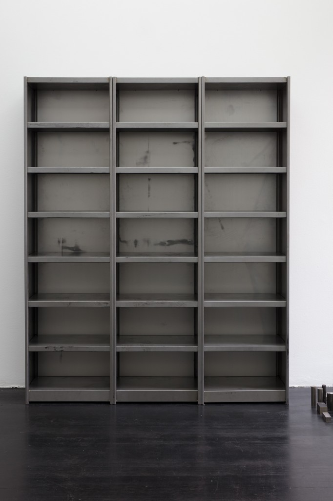 Detail view: Ibon Aranberri, Sources without qualities, 2017, Metal cabinet, steel elements, 224 x 182 x 40 cm, Unique, Photo: Thomas Bruns