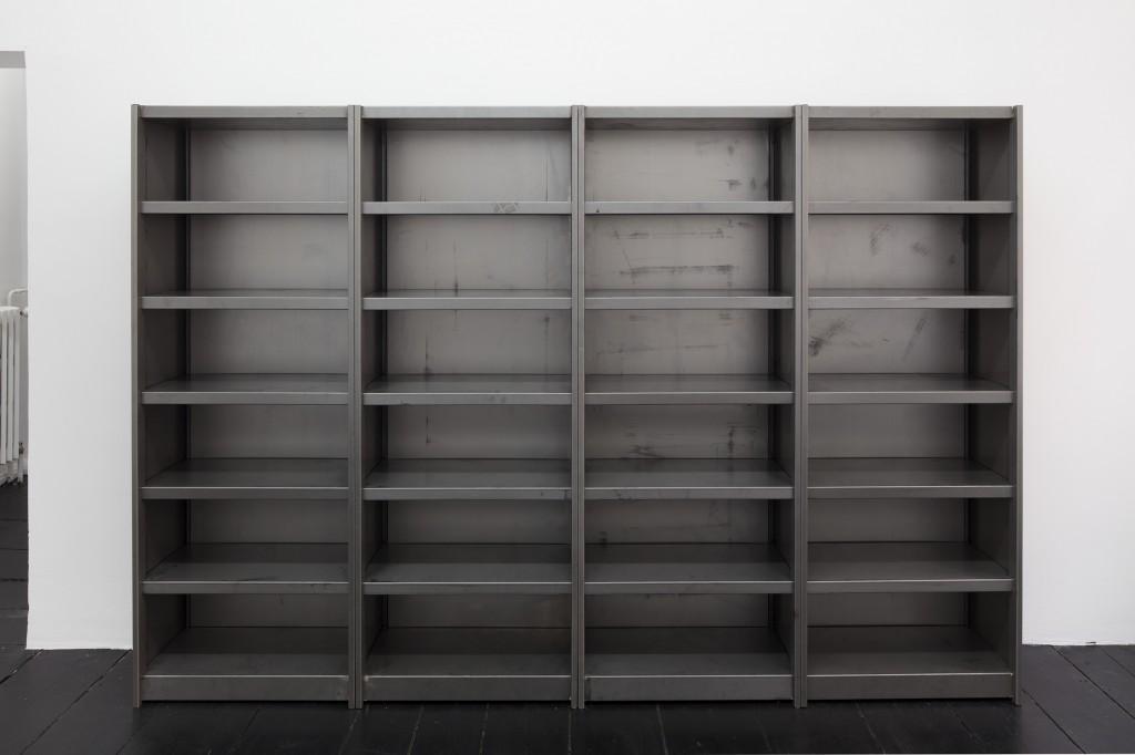 Detail view: Ibon Aranberri, Sources without qualities, 2017, Metal cabinet, steel elements, 282.5 x 190 x 34 cm, Unique, Photo: Thomas Bruns