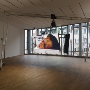 Ed Atkins, Safe Conduct, 2016, Three channel HD film with 5.1 surround sound, Dimensions variable, 09:04, MMK Museum für Moderne Kunst Frankfurt am Main 3.02.17 — 14.05.17