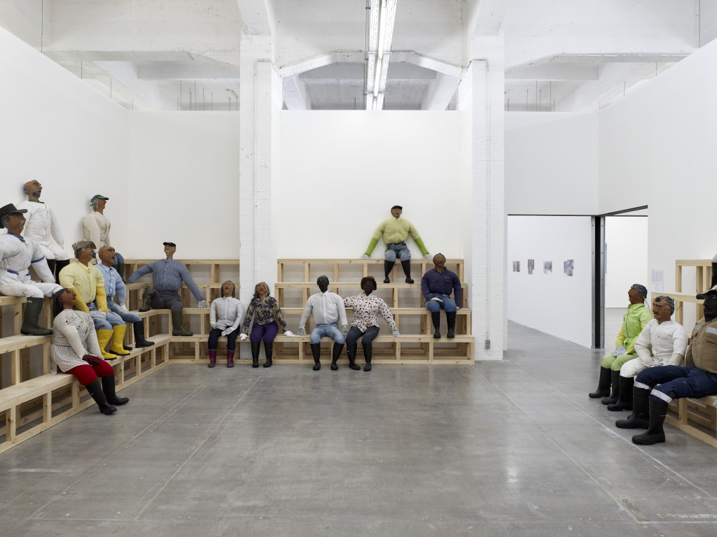 Oscar Murillo,Installation view,The Absent Museum at WIELS, Brussels, 20.04.17 -13.08.17 Photo by Kristien Daem.
