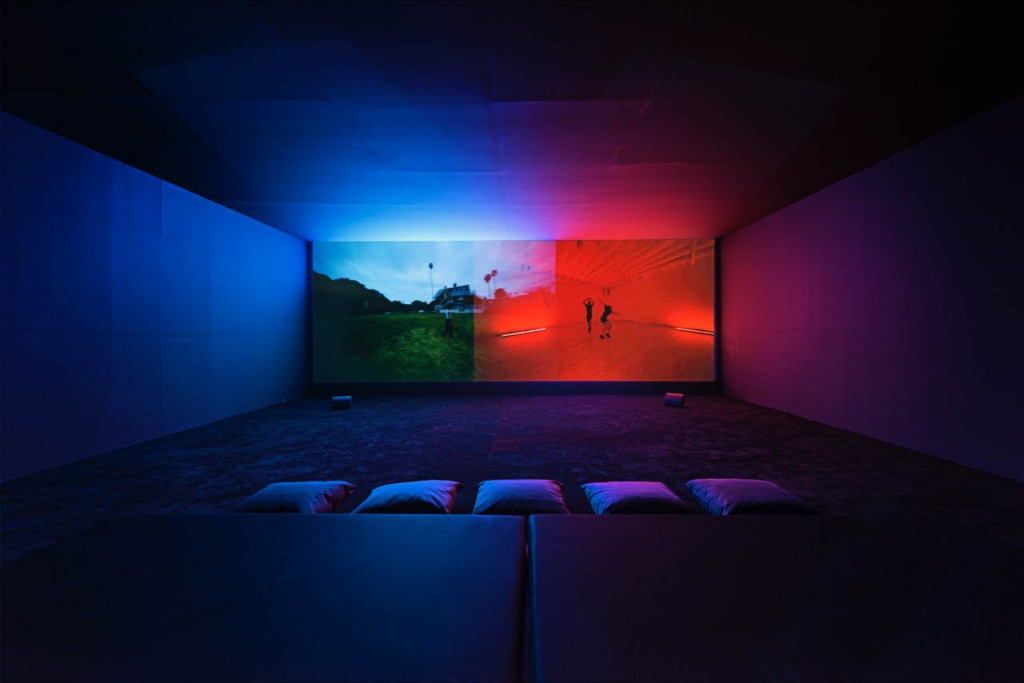 Wu Tsang, We hold where study, 2017, 2-channel video. Installation view, Paratoxic Paradoxes, Benaki Museum, Athens. photo ©Υiorgis Yerolymbos