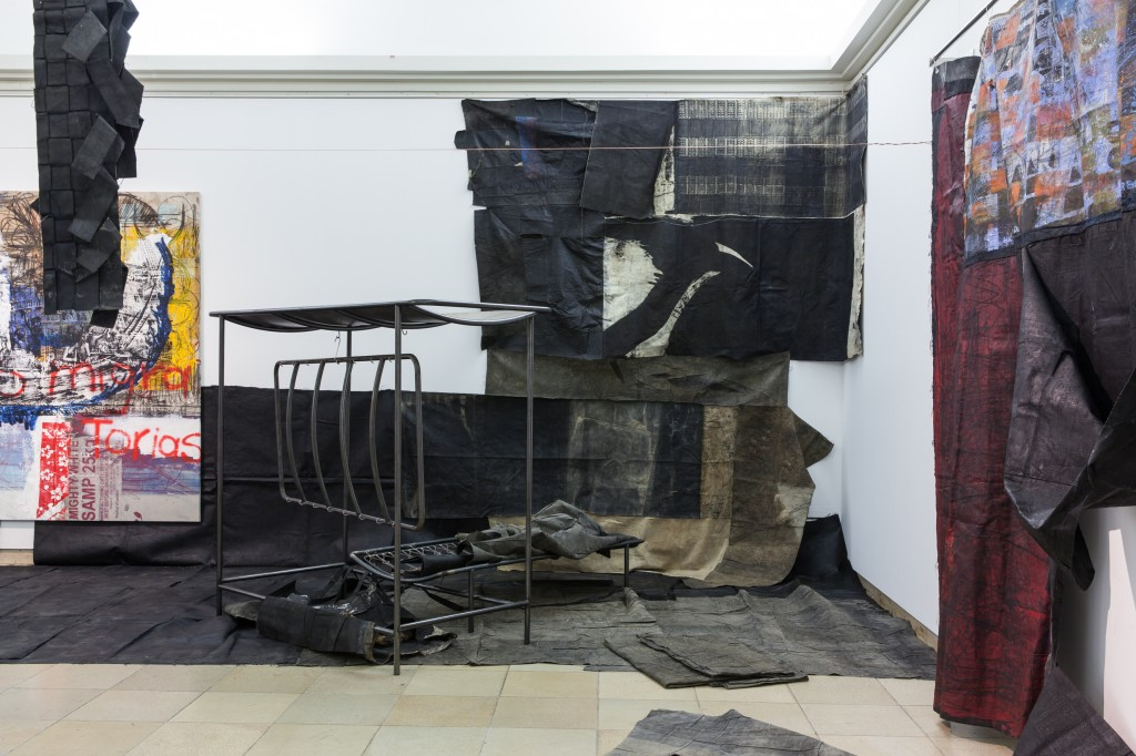 Capsule 07 / Oscar Murillo, Installation view, Going Forth: The Institute of Reconciliation Haus der Kunst, 15.09.17 – 18.03.18