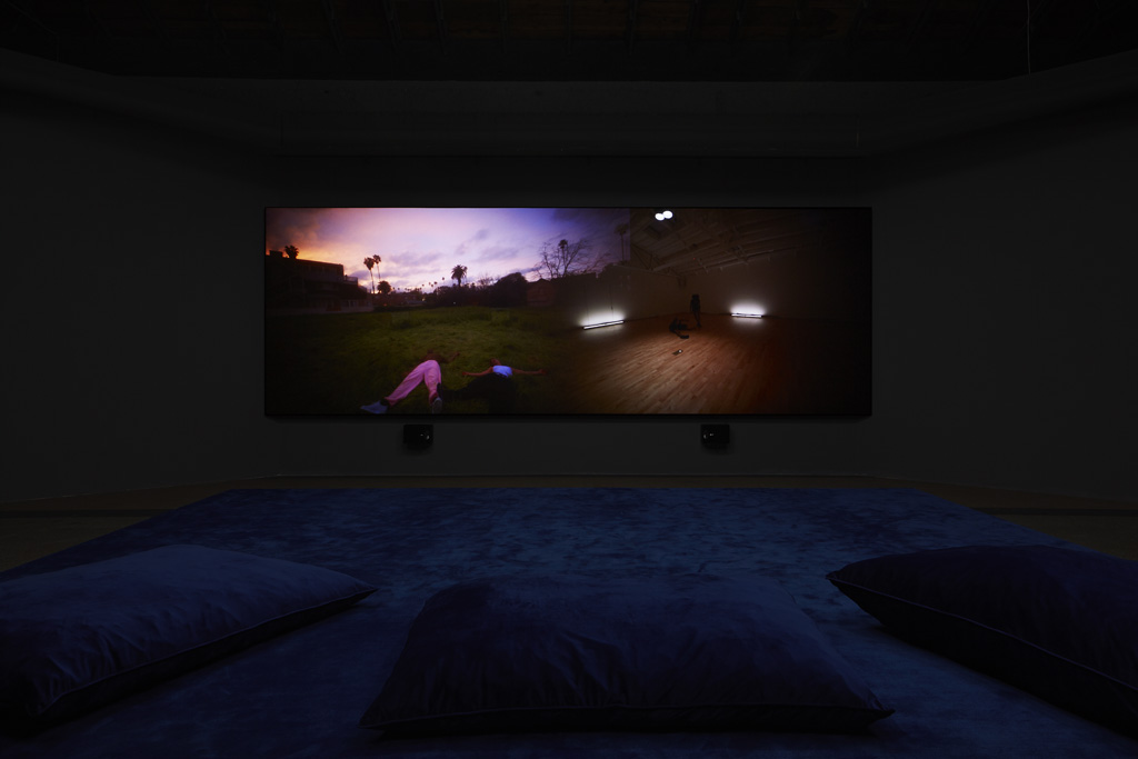 Wu Tsang, We Hold Where Study 2017, 2 channel video with sound,dimensions variable, 18:56 min, at Antenna Space, Shanghai 23.09.17—02.11.17