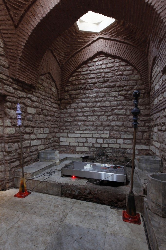 Installation view, A good neighbour, 15th Istanbul Biennial,16.09.17-12.11.17 Stephen G. Rhodes, Willkommen Assumption, mixed-media and film,dimensions variable, Photo: Sahir Uğur Eren