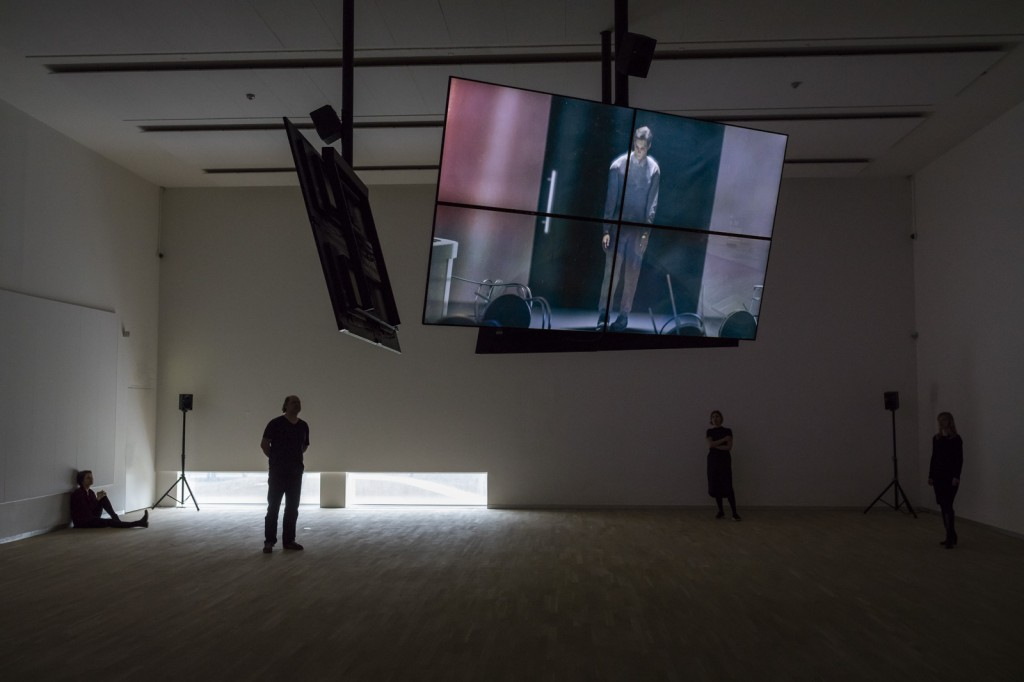 Installation View: Safe Conduct, 2016, Three channel HD film with 5.1 surround sound, at National Gallery of Denmark, 17.03.16 - 04.09.17
