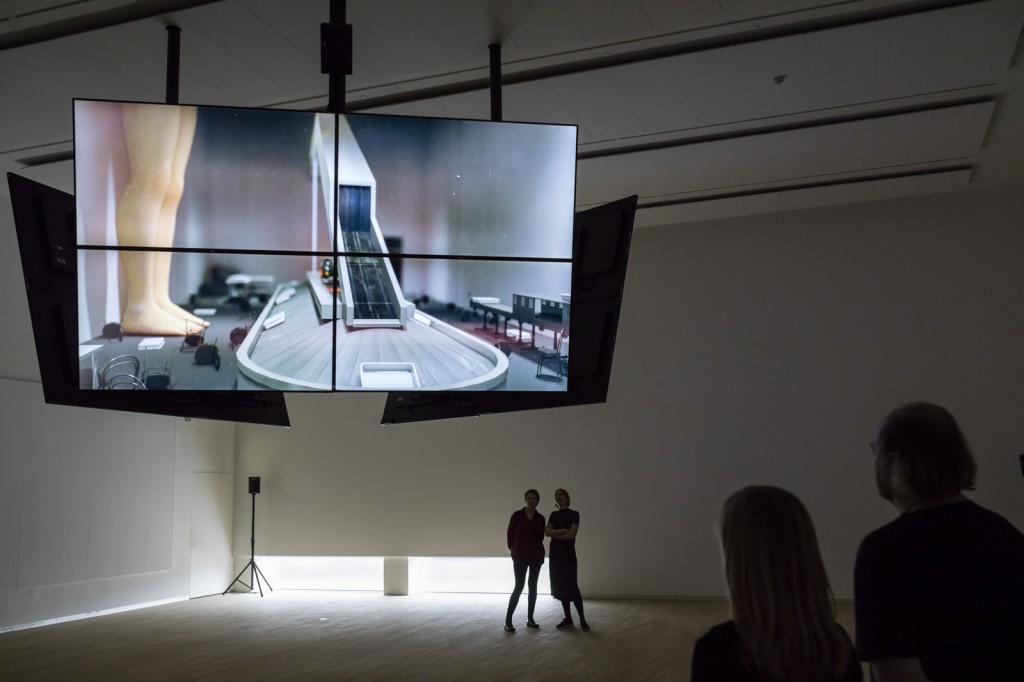 Installtion View: Safe Conduct, 2016, Three channel HD film with 5.1 surround sound, at National Gallery of Denmark, 17.03.16 - 04.09.17