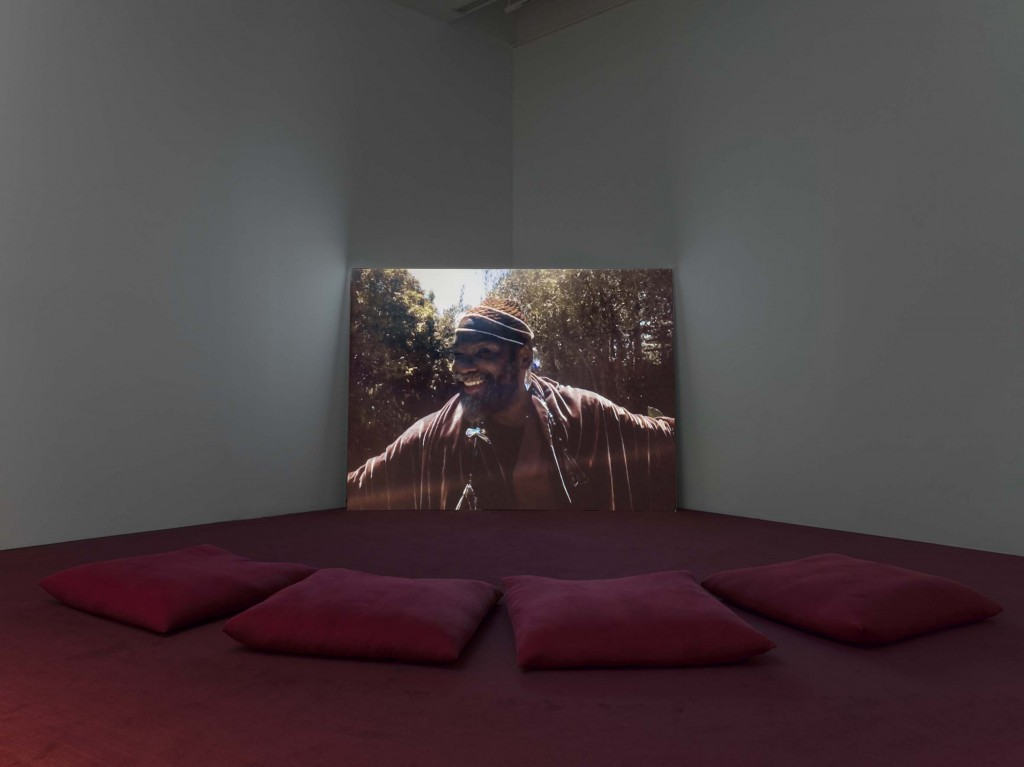 Installation view: Wu Tsang, Girl Talk, 2015, Single channel video with sound, 4 min New Museum, New York. 27.09.17—21.01.18 Photo: Maris Hutchinson