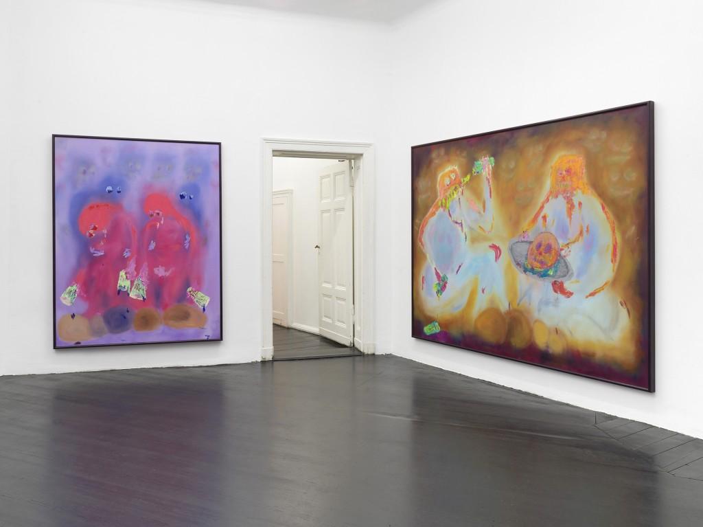Installation view, Stephen G. Rhodes, SPÄTKAUFF, Galerie Isabella Bortolozzi, Berlin, 2019. Photos: Roman März.