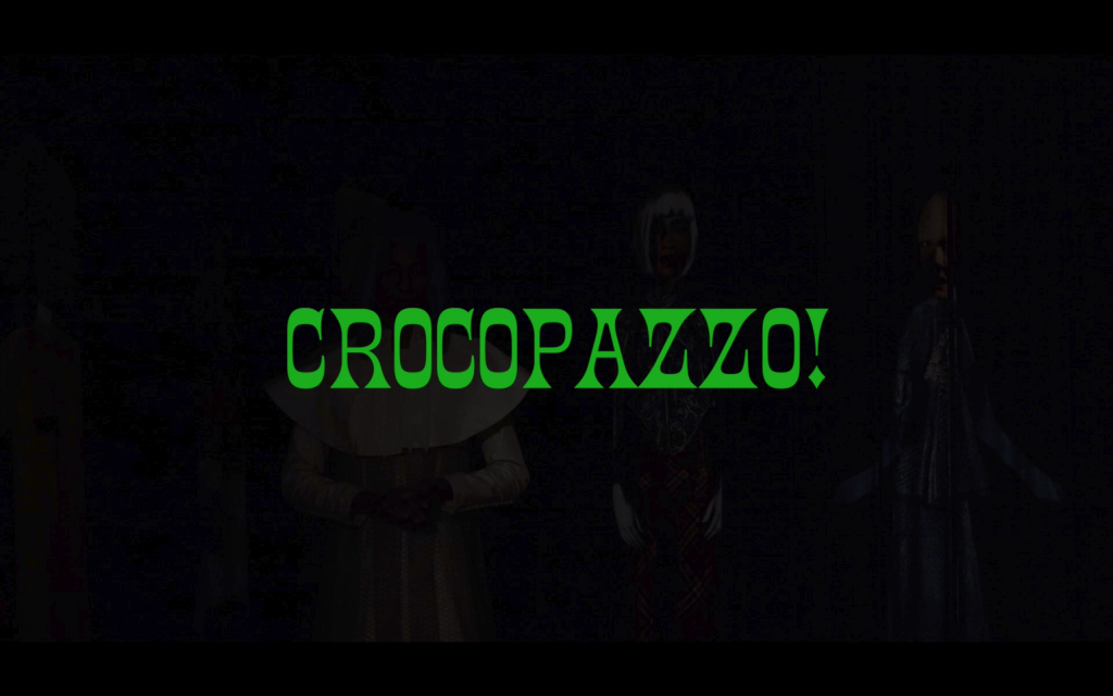 Still from Leila Hekmat, CROCOPAZZO!, 2020. Film, single-channel video, 80 minutes.