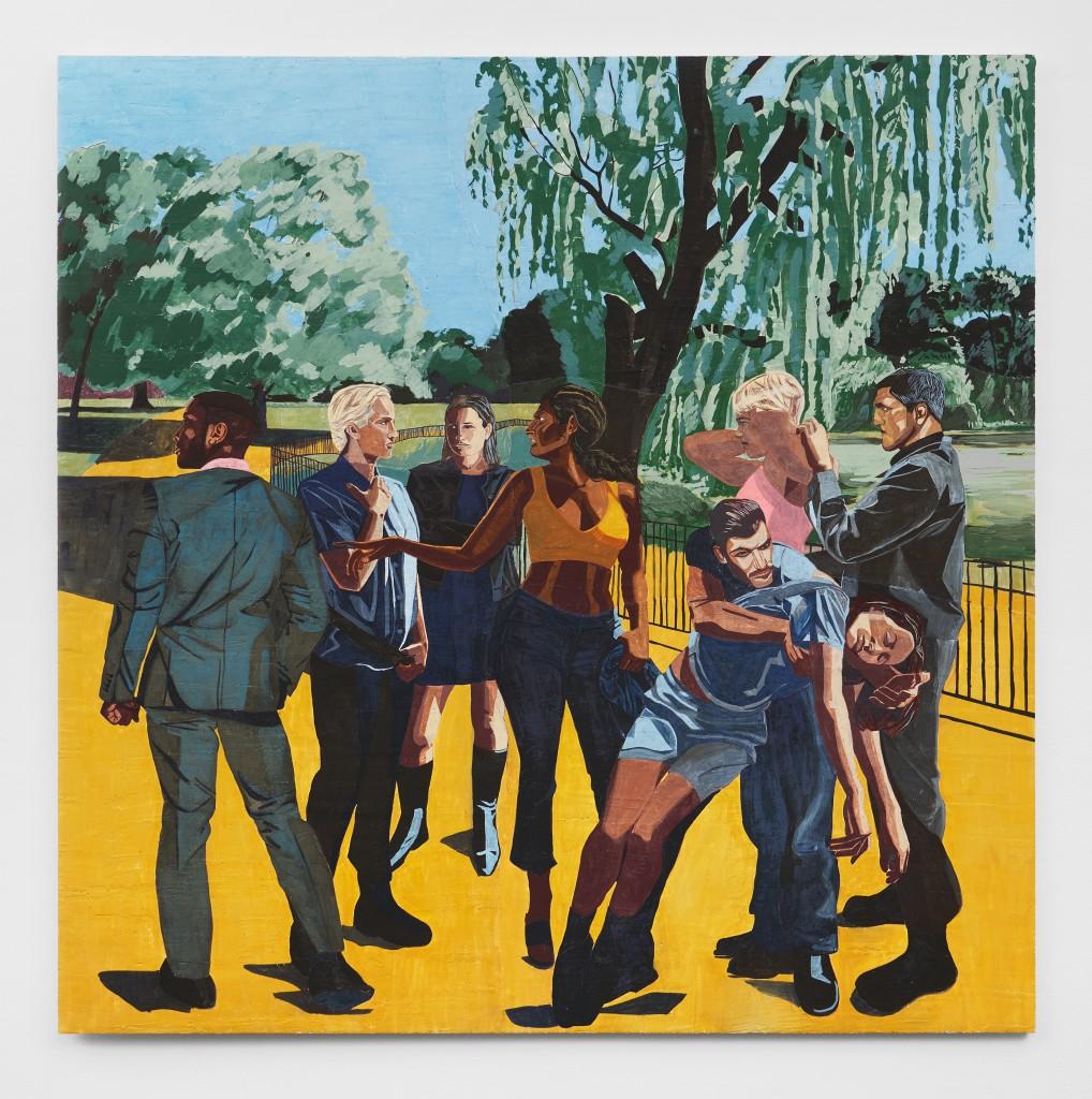 Public Affairs 1, 2020. Fresco on wooden panel, 200 x 200 cm.