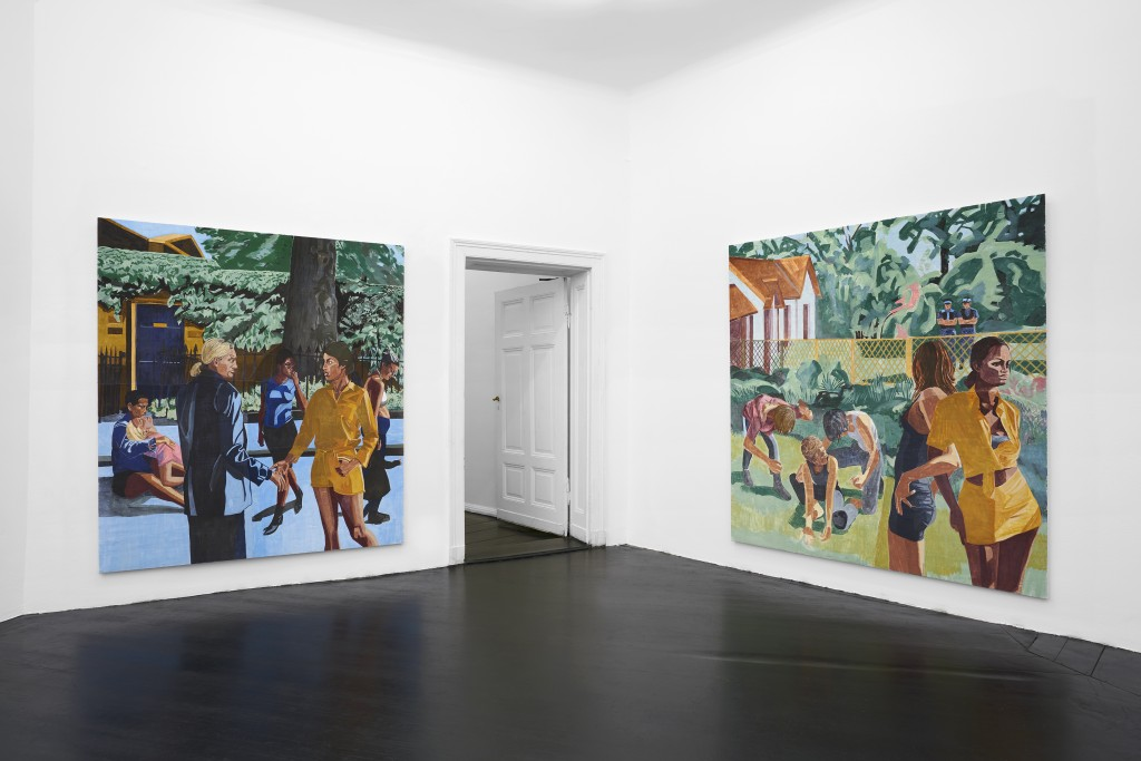 Installation view, Public Affairs, 2020. Galerie Isabella Bortolozzi, Berlin. Photos: Graysc.