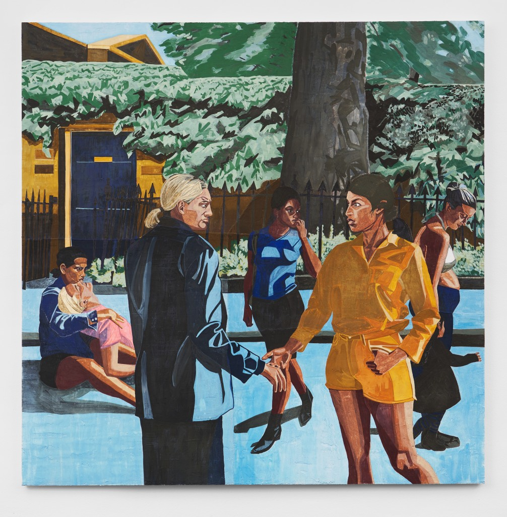 Public Affairs 2, 2020. Fresco on wooden panel, 200 x 200 cm.